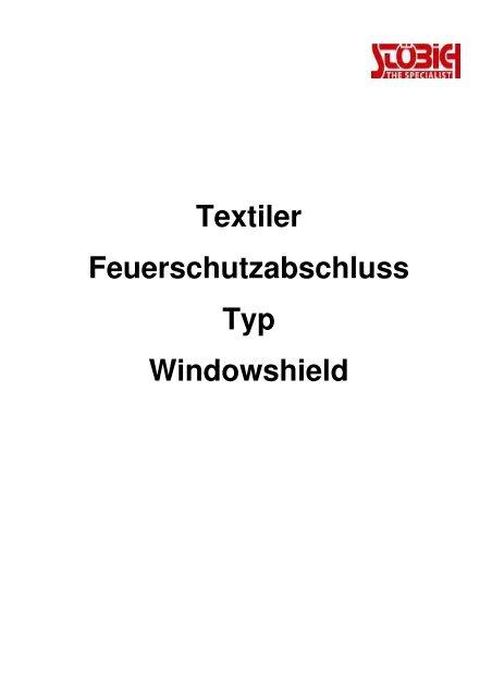 Textiler Feuerschutzabschluss Typ Windowshield - Stöbich ...