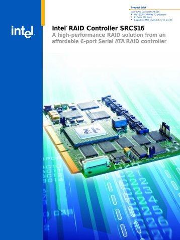 Intel® RAID Controller SRCS16