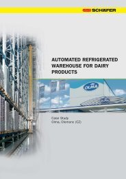 automated refrigerated warehouse for dairy products - SSI Schäfer