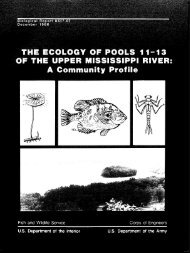The Ecology of Pools 11-13 of tht - USGS National Wetlands ...