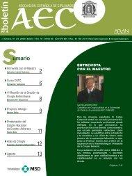 BOLETIN 16 PAGINAS - AEC_____Asociación Española de Cirujanos