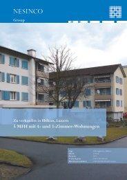 5 MFH mit 4- und 3-Zimmer-Wohnungen - nesinco