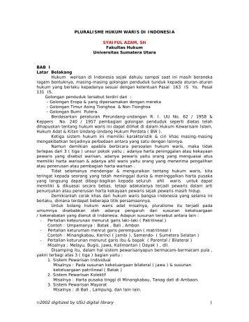 KATA PENGANTAR - USU Library - Universitas Sumatera Utara
