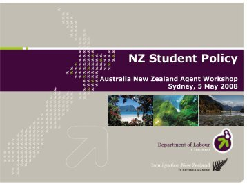 Student Policy - Australia New Zealand Agent Workshop (ANZA)