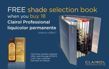 FREE shade selection book - Clairol Professional