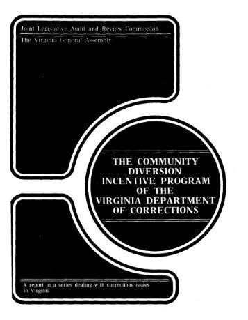 The Community Diversion Incentive Program ofthe Virginia ...