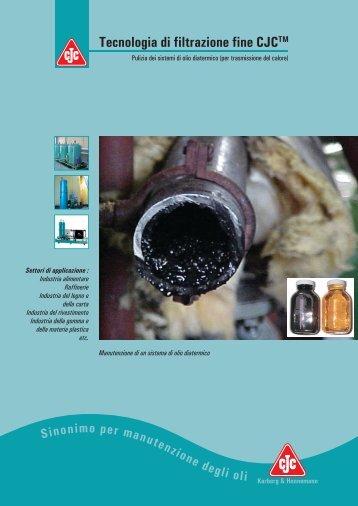 Manutenzione dell'olio diatermico - Cjc.dk