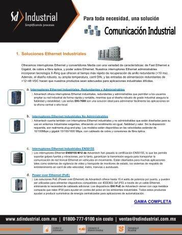 1. Soluciones Ethernet Industriales GAMA COMPLETA - Soporte ...