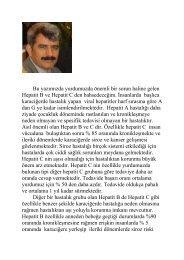 Hepatit B ve C - Prof. Dr. Sadettin Hülagü