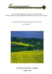 center for bæredygtig arealanvendelse og forvaltning af ... - Info