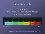 Quantum Dots - Utah State University