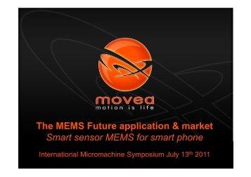 The MEMS Future application & market Smart sensor MEMS for ...