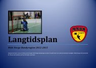 Langtidsplan Midt-Norge Bandyregion 2012-2015