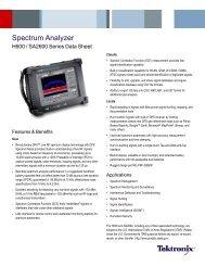 Spectrum Analyzer - H600/SA2600 Series - AFC Ingenieros