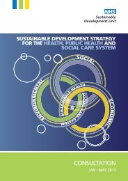 Sustainable Development Strategy - Consultation Document - NHS ...