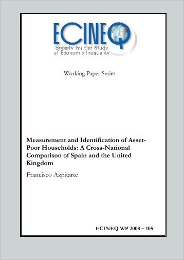 Measurement and Identification of Asset- Poor Households ... - ecineq