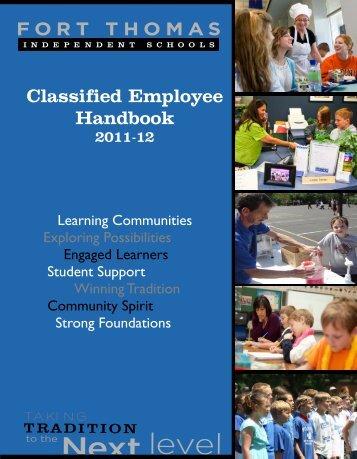 Classified Employee Handbook - Fort Thomas Independent Schools