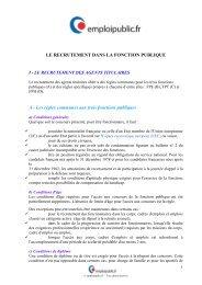 LE RECRUTEMENT DANS LA FONCTION ... - Emploipublic.fr