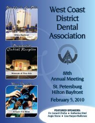 Meeting Brochure - West Coast Dental Association