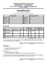Bestellformular - Deutsche Grammatik Verlag Mare Balticum
