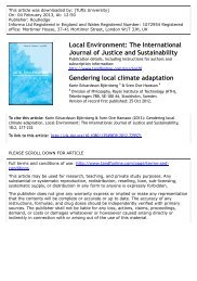 Gendering local climate adaptation - Africa Adapt