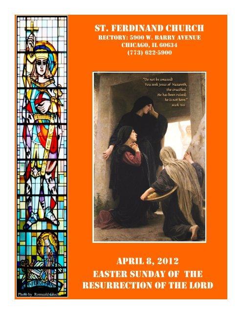 st. ferdinand church april 8, 2012 easter sunday of the resurrection ...