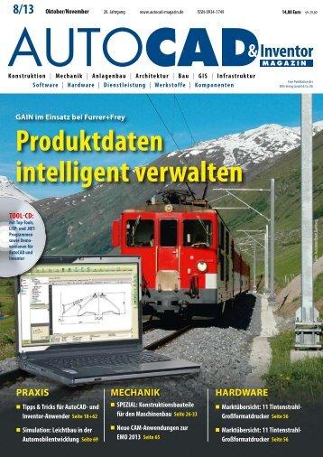 Leseprobe AUTOCAD & Inventor Magazin 2013/08