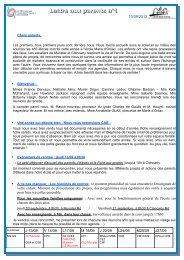 Lettre aux parents n°1 - Lycée français Charles de Gaulle