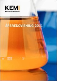 Årsredovisning 2011 - Kemikalieinspektionen