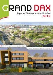 Rapport Développement Durable - Grand Dax