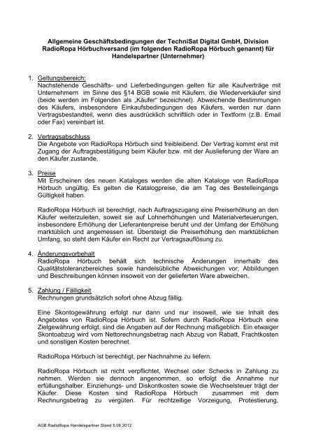 Agb Zum Ausdrucken Im Pdf Format Radioropa Hãrbuch