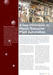 A new Dimension in Plastic Extrusion Plant Automation - automotion