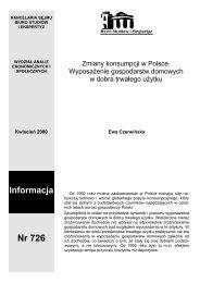 Zmiany konsumpcji w Polsce. Wyposażenie gospodarstw ...
