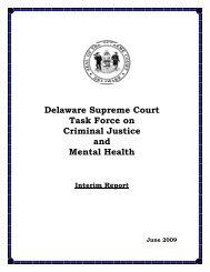 Delaware Supreme Court Task Force on Criminal Justice and ...