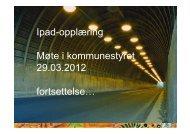 iPad opplæring KST 29.03.12 - Gran kommune