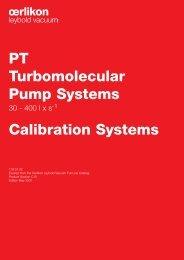 PT Turbomolecular Pump Systems Calibration Systems