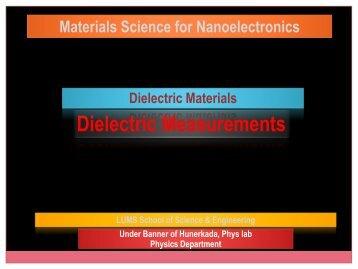 Dielectric Measurement