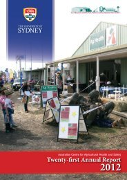 Twenty-first Annual Report - Australian Centre for Agricultural Health ...