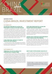 china-brazil investment report - CEBC - Conselho Empresarial Brasil ...