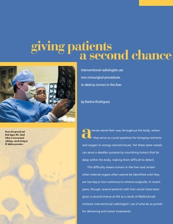 giving patients a second chance (pdf*) - Mallinckrodt Institute of ...