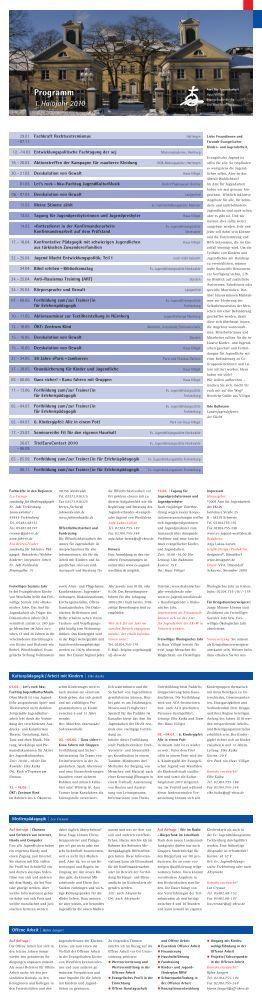 Programm 1. Halbjahr 2010 - Evangelische Jugend von Westfalen