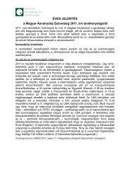 ÉVES JELENTÉS a Magyar Ásványolaj Szövetség 2011. évi ...