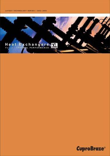 Heat Exchangers Heat Exchangers - the Cuprobraze Alliance