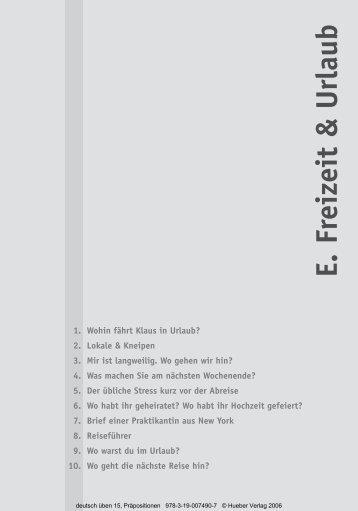 E. Freizeit & Urlaub - Hueber