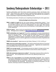 Isenberg Undergraduate Scholarships ~ 2011 - Isenberg School of ...