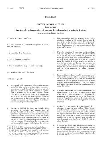 Directive 2007/43/CE - EUR-Lex