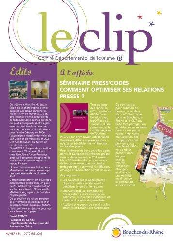 Clip Octobre 2009.pdf - Accueil - Bouches du Rhône