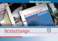 Mediadaten (PDF) - Bundesverband Deutscher Bestatter e.V.