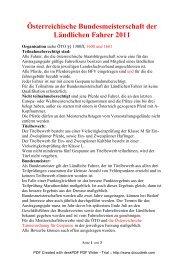 BM Fahren 2011 - Ländliche Reiter und Fahrer in Niederösterreich