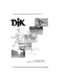 Heft 3 2011 - DJK Concordia Fürth 1920 e. V.